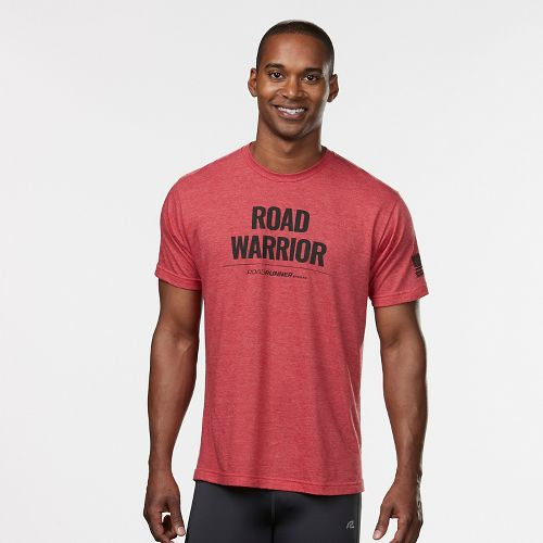 Mens R-Gear Road Warrior Graphic Tee Short Sleeve Technical Tops - Heather Red L