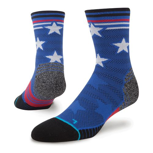 Mens Stance Fusion Run Replay Crew Socks - Blue M