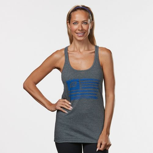 Womens R-Gear Flag Graphic Sleeveless & Tank Technical Tops - Heather Charcoal S