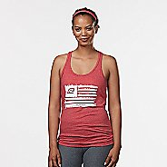 Womens R-Gear Flag Graphic Sleeveless & Tank Technical Tops - Heather Red L