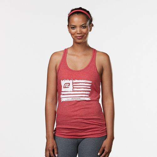 Womens R-Gear Flag Graphic Sleeveless & Tank Technical Tops - Heather Red M