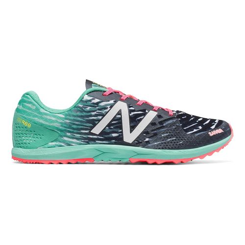 Womens New Balance XC900v3 Cross Country Shoe - Black/Blue 8.5