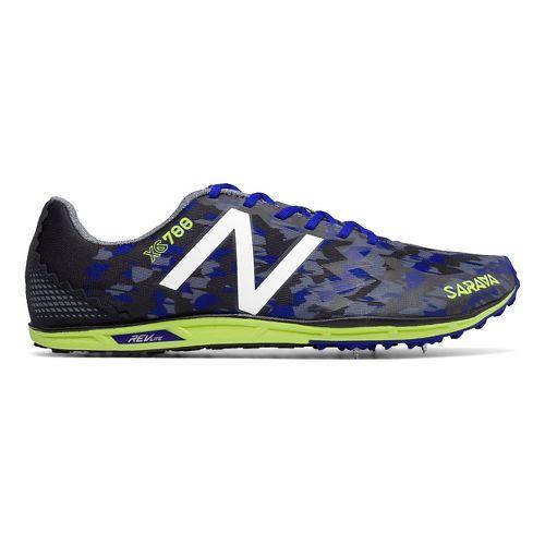 Mens New Balance XC700v4 Spike Cross Country Shoe - Blue/Yellow 11