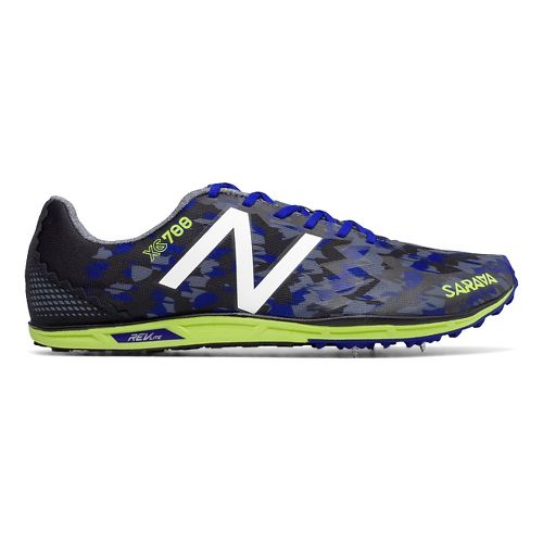 Mens New Balance XC700v4 Spike Cross Country Shoe - Blue/Yellow 11.5