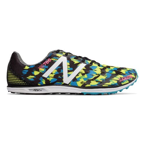 Mens New Balance XC700v4 Cross Country Shoe - Black/Yellow 8.5