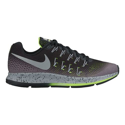 Womens Nike Air Zoom Pegasus 33 Shield Running Shoe - Black 10.5