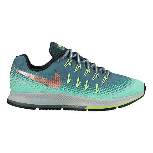 Womens Nike Air Zoom Pegasus 33 Shield Running Shoe - Green Glow 8
