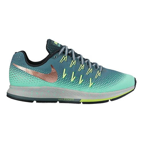 Womens Nike Air Zoom Pegasus 33 Shield Running Shoe - Green Glow 9