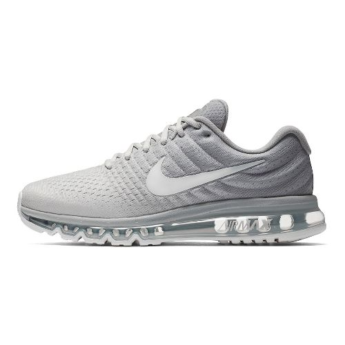 Mens Nike Air Max 2017 Running Shoe - Silver/White 10.5