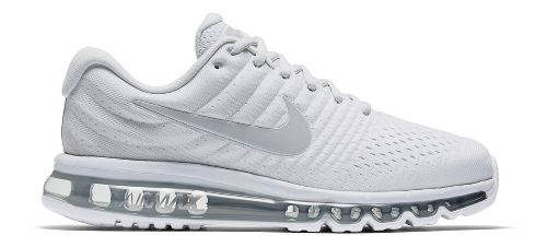 Mens Nike Air Max 2017 Running Shoe - White 10.5