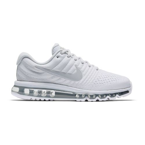 Mens Nike Air Max 2017 Running Shoe - White 9.5