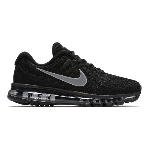 Womens Nike Air Max 2017 Running Shoe - Black/White 11