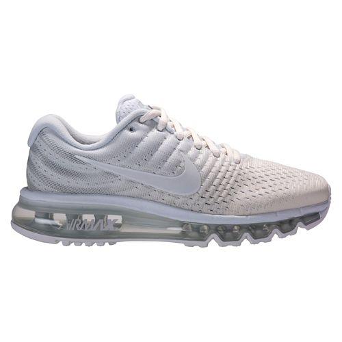 Womens Nike Air Max 2017 Running Shoe - Platinum/White 11