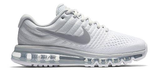 Womens Nike Air Max 2017 Running Shoe - White 9.5