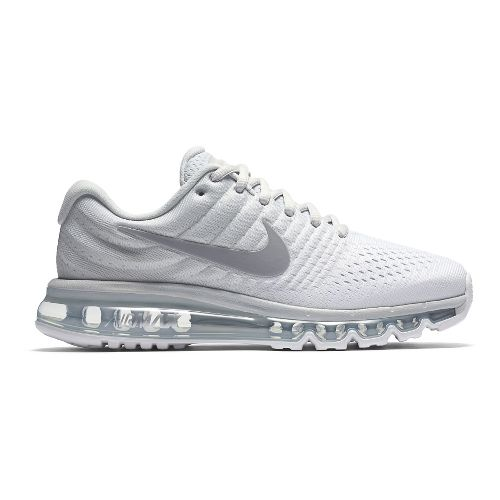 Womens Nike Air Max 2017 Running Shoe - White 9
