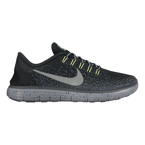 Mens Nike Free RN Distance Shield Running Shoe - Black 11