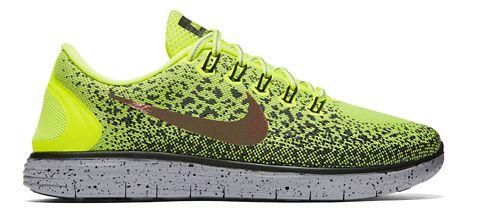 Mens Nike Free RN Distance Shield Running Shoe - Volt/Cargo Khaki 10
