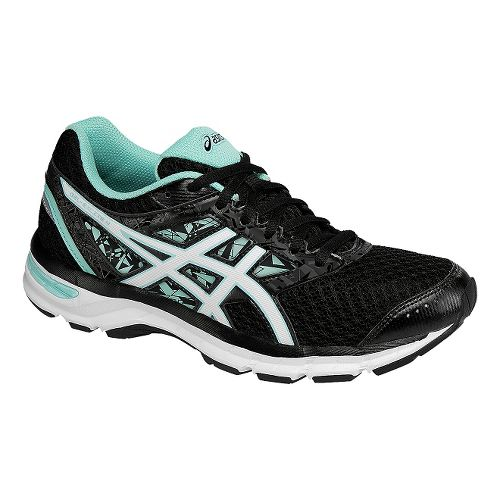 Womens ASICS GEL-Excite 4 Running Shoe - Black/Mint 12