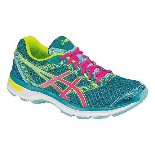 Womens ASICS GEL-Excite 4 Running Shoe - Blue/Pink 10.5