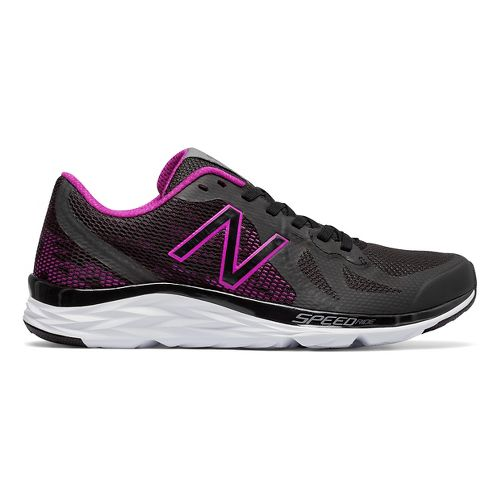 Womens New Balance 790v6 Racing Shoe - Black/Poison Berry 10