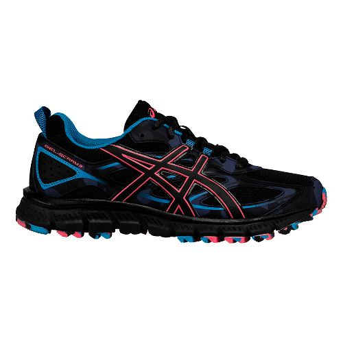 Womens ASICS GEL-Scram 3 Trail Running Shoe - Anthracite/Black 9