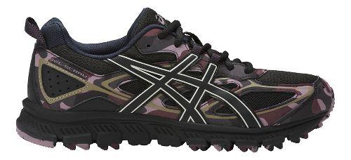 Womens ASICS GEL-Scram 3 Trail Running Shoe - Black/Eggplant 9