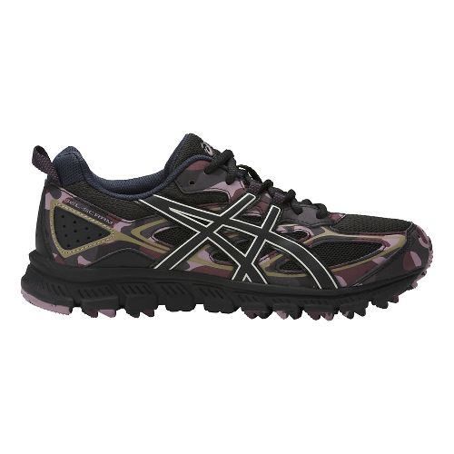 Womens ASICS GEL-Scram 3 Trail Running Shoe - Black/Eggplant 10.5