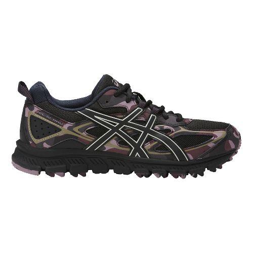 Womens ASICS GEL-Scram 3 Trail Running Shoe - Black/Eggplant 12