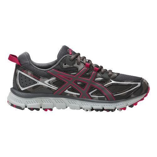 Womens ASICS GEL-Scram 3 Trail Running Shoe - Carbon/Pink 6.5