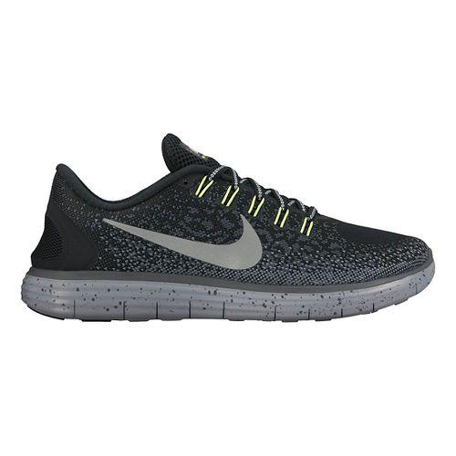Womens Nike Free RN Distance Shield Running Shoe - Black 6