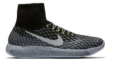 Mens Nike LunarEpic Flyknit Shield Running Shoe - Black 8.5