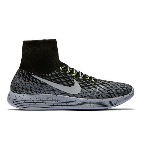 Mens Nike LunarEpic Flyknit Shield Running Shoe - Black 8.5
