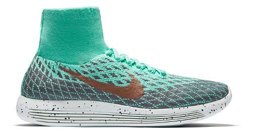 Womens Nike LunarEpic Flyknit Shield Running Shoe - Green Glow 10