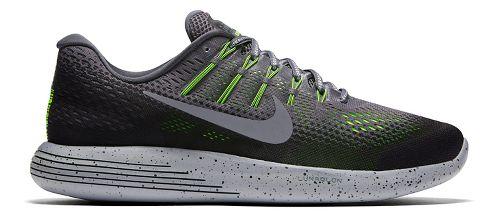 Mens Nike LunarGlide 8 Shield Running Shoe - Volt/Cargo Khaki 10
