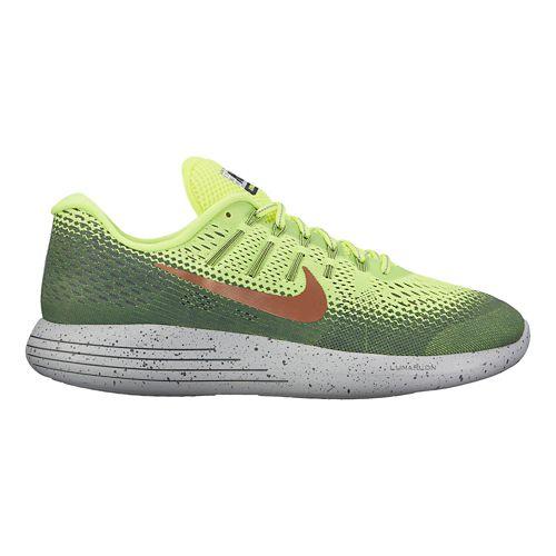 Mens Nike LunarGlide 8 Shield Running Shoe - Volt/Cargo Khaki 10.5