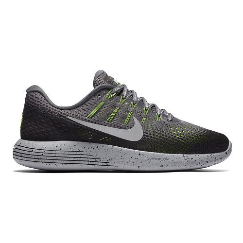 Womens Nike LunarGlide 8 Shield Running Shoe - Charcoal 11