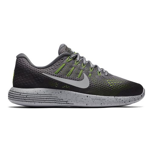 Womens Nike LunarGlide 8 Shield Running Shoe - Charcoal 6