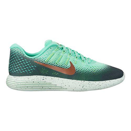 Womens Nike LunarGlide 8 Shield Running Shoe - Green Glow 10