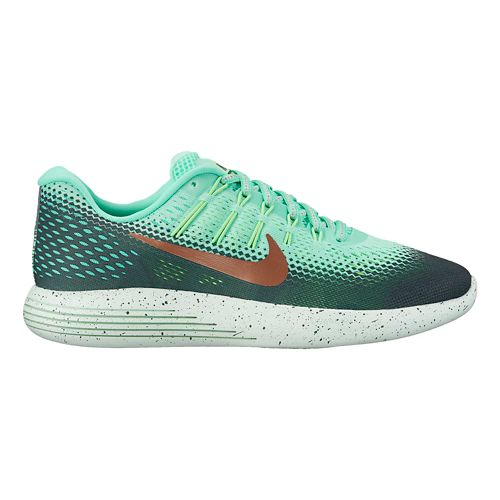 Womens Nike LunarGlide 8 Shield Running Shoe - Green Glow 8