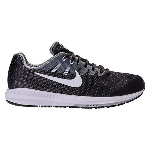 Mens Nike Air Zoom Structure 20 Running Shoe - Black 10.5