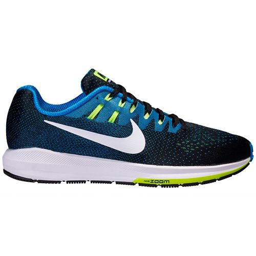 Mens Nike Air Zoom Structure 20 Running Shoe - Black/Blue 10.5