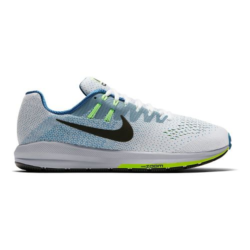 Mens Nike Air Zoom Structure 20 Running Shoe - White/Blue 9