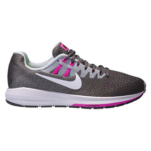 Womens Nike Air Zoom Structure 20 Running Shoe - Grey/Pink 10.5