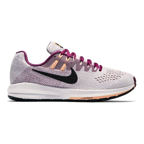 Womens Nike Air Zoom Structure 20 Running Shoe - White/Purple 7