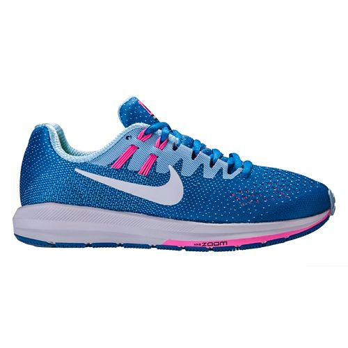 Womens Nike Air Zoom Structure 20 Running Shoe - Blue/Pink 7