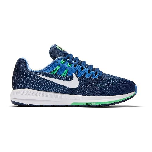 Womens Nike Air Zoom Structure 20 Running Shoe - Blue/Green 10