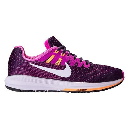Womens Nike Air Zoom Structure 20 Running Shoe - Purple/Pink 9