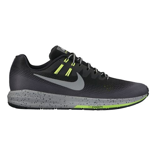 Mens Nike Air Zoom Structure 20 Shield Running Shoe - Black 8