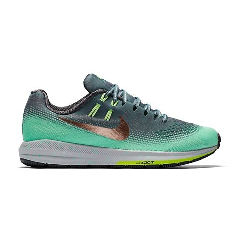 Womens Nike Air Zoom Structure 20 Shield Running Shoe - Green Glow 11