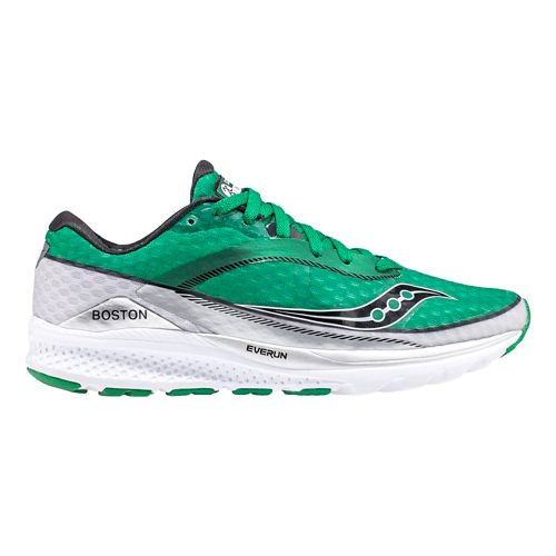 Womens Saucony Boston Kinvara 7 Running Shoe - Green 8.5